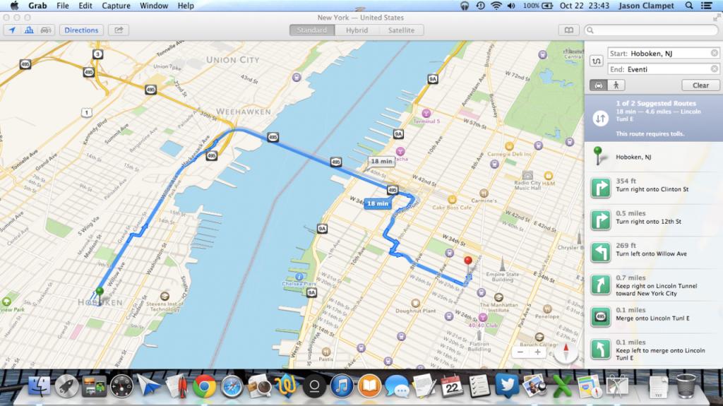 apple maps mac
