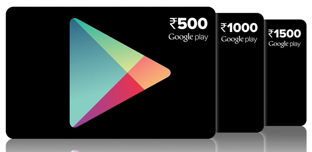 google play gift cards india