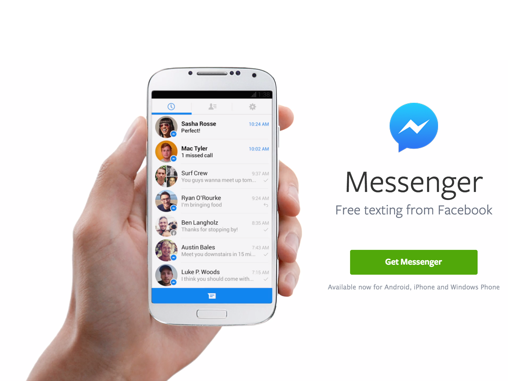 Facebook Messenger crosses 1 billion downloads in Google Play store
