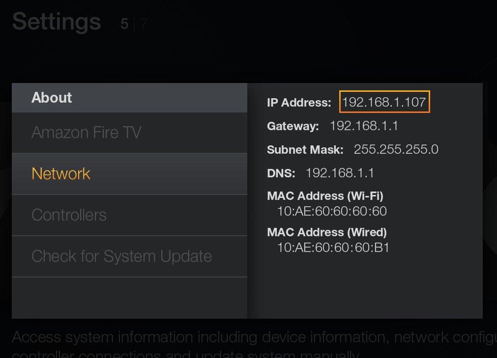 Fire TV Stick IP