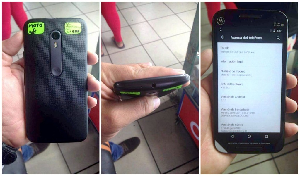 The supposed Moto G 2015