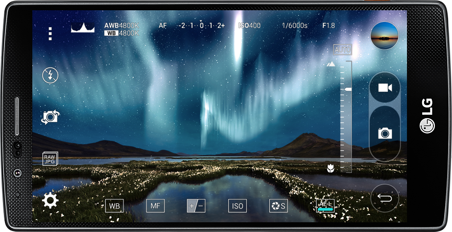 LG's Android camera software