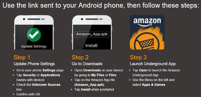 Amazon Underground instructions