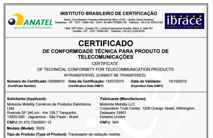 Brazil FCC Moto 360