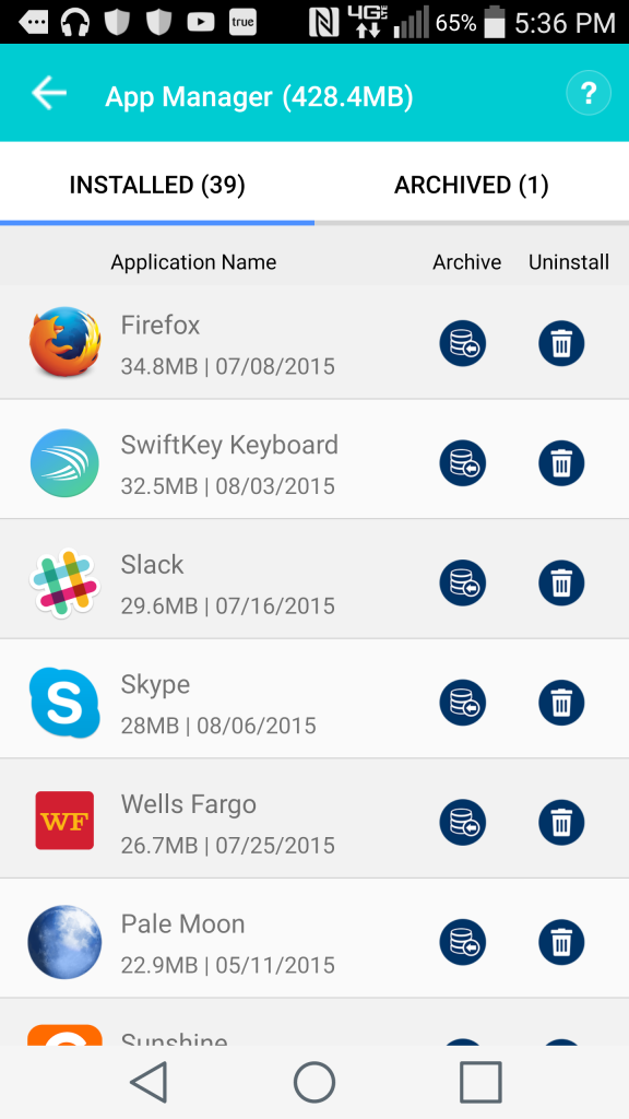 Systweak's App Manager