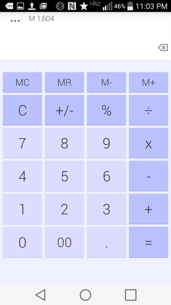The Original - Blue theme of Daily Calculator Free