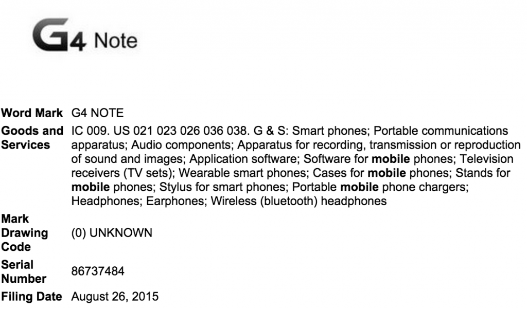g4 note filing