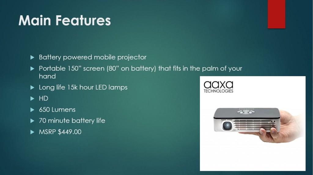 aaxa main features
