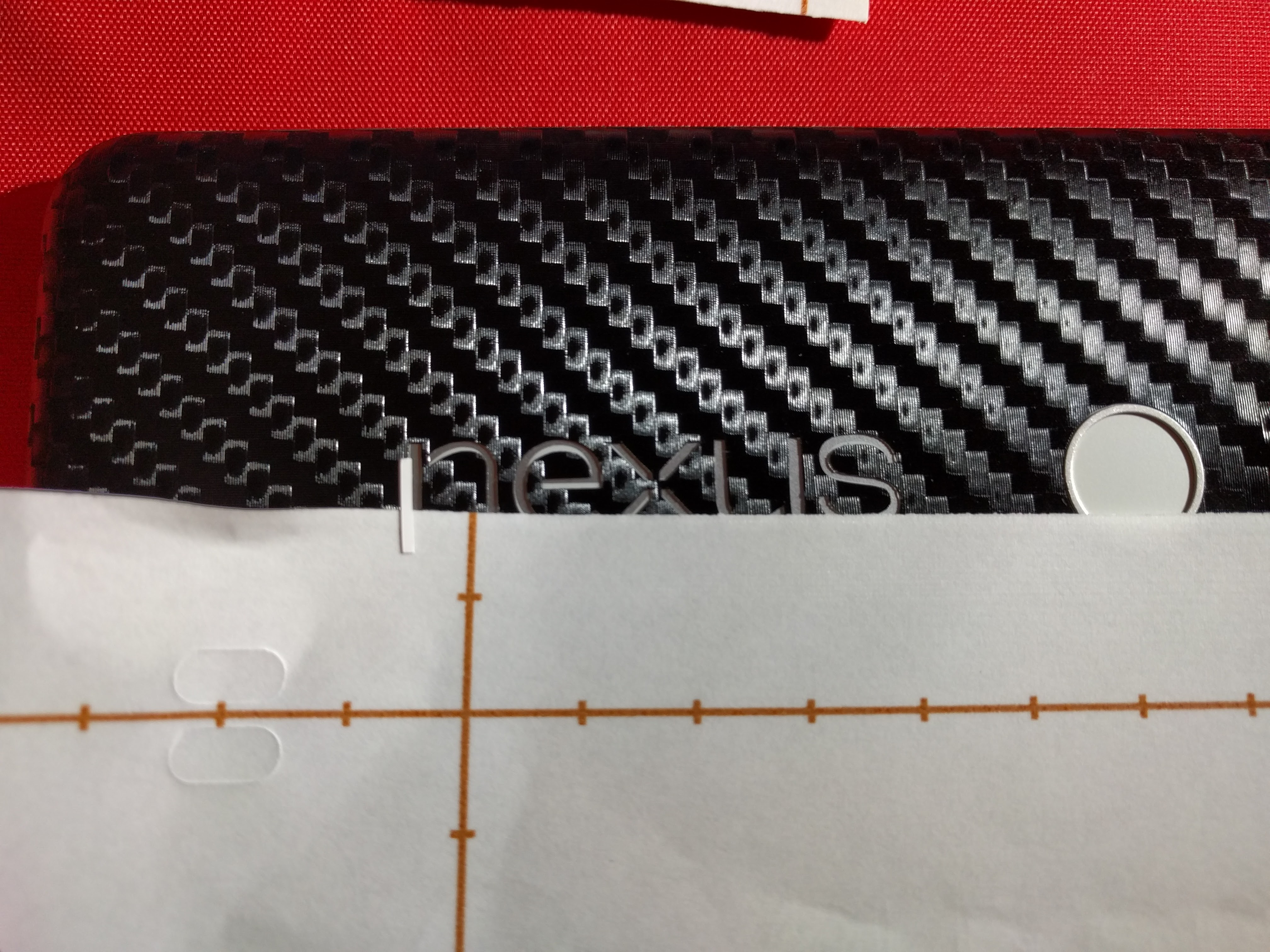 4. Remove each individual letter and use the backing to align each insert.