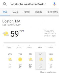 تحقق من توقعات الطقس
