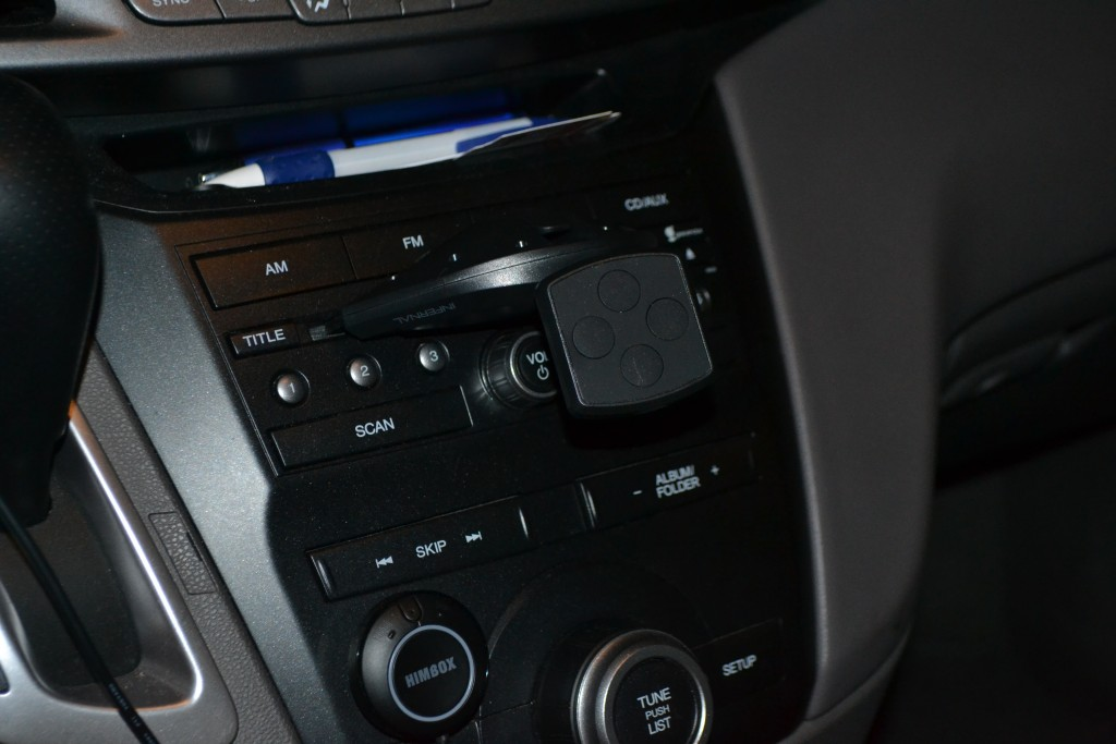 CD player magnetic phone mount