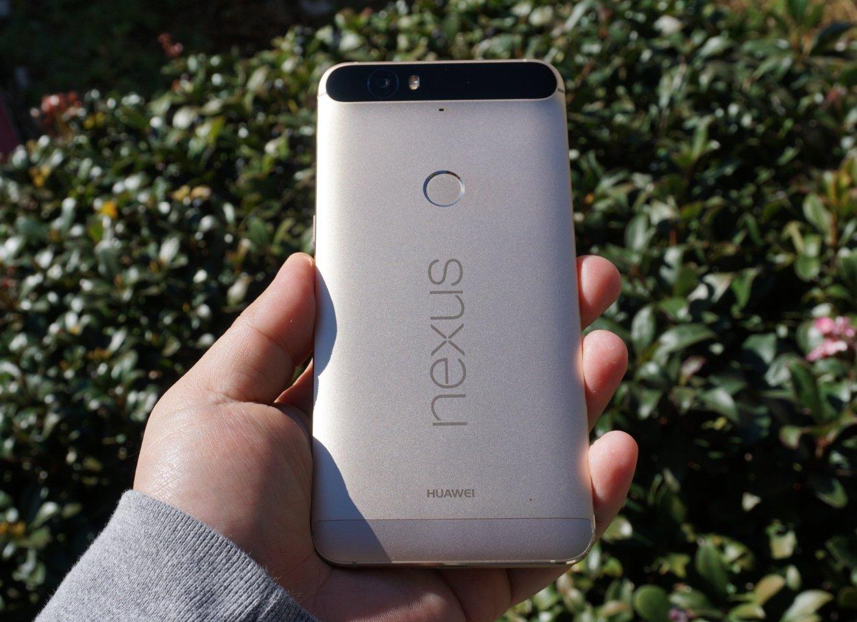 The gold Huawei Nexus 6P
