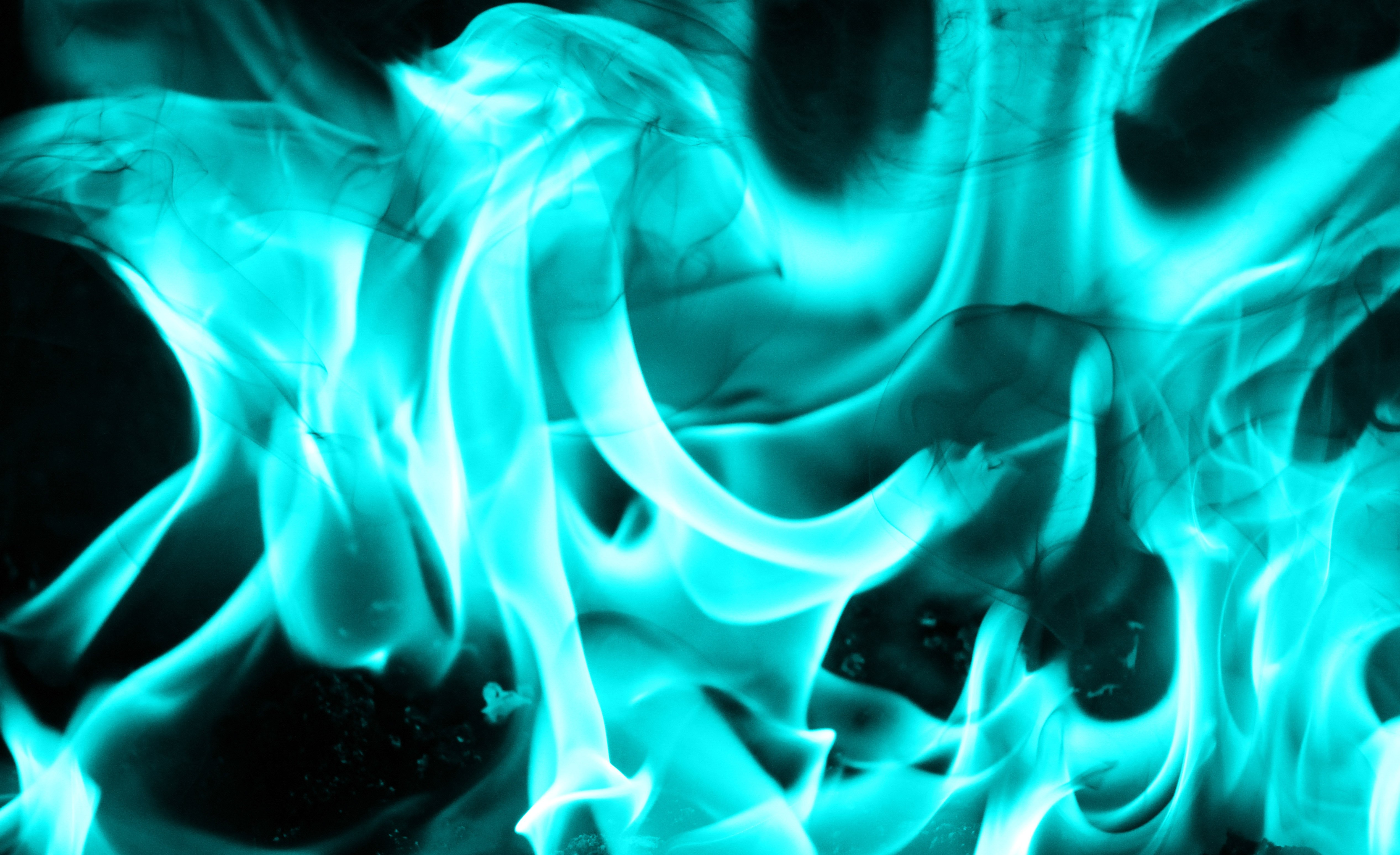teal fire texture cool flame cold burn stock photo