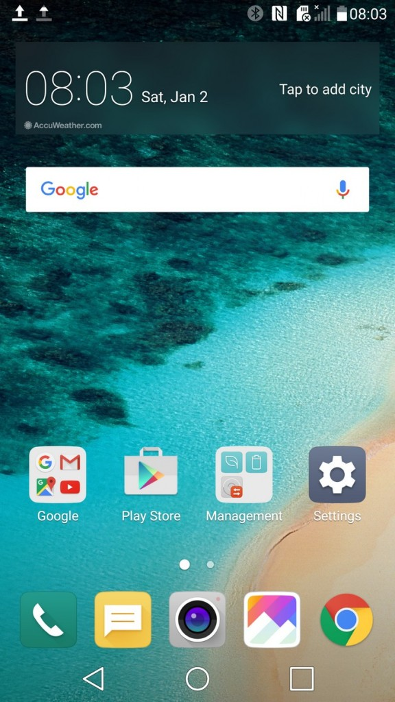 LG G5 Home Screen