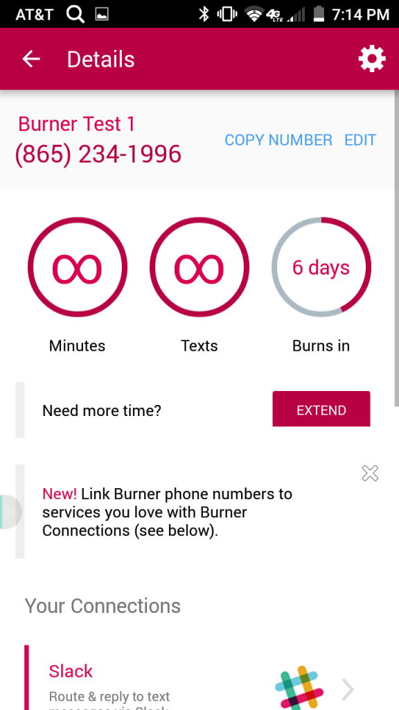 I trust Burner enough to show you the number it gave me