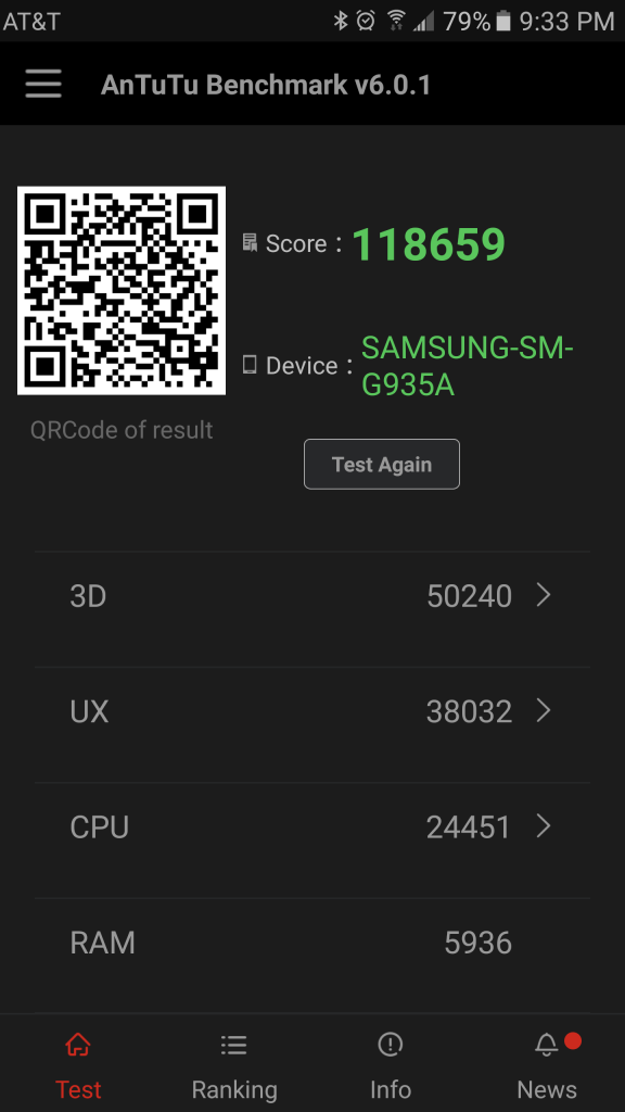 Samsung Galaxy S7 edge AnTuTu Benchmark