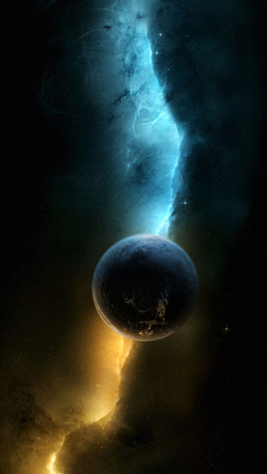wallpaper full hd 1080 x 1920 smartphone space alone planet