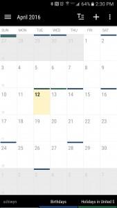 Business Calendar 2-2