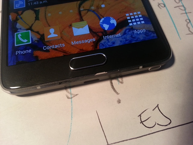 A Note 4 with chrome chips from a user on Android Central's forums