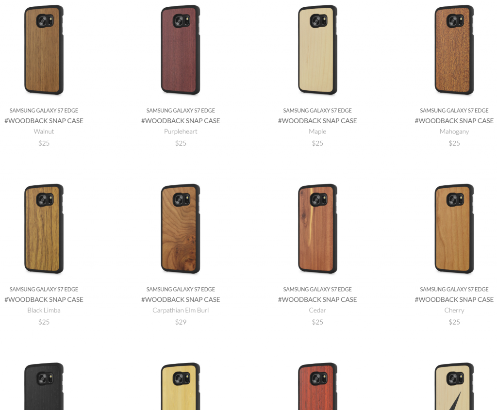 Snippet from Cover-Up's case inventory for the S7 Edge.