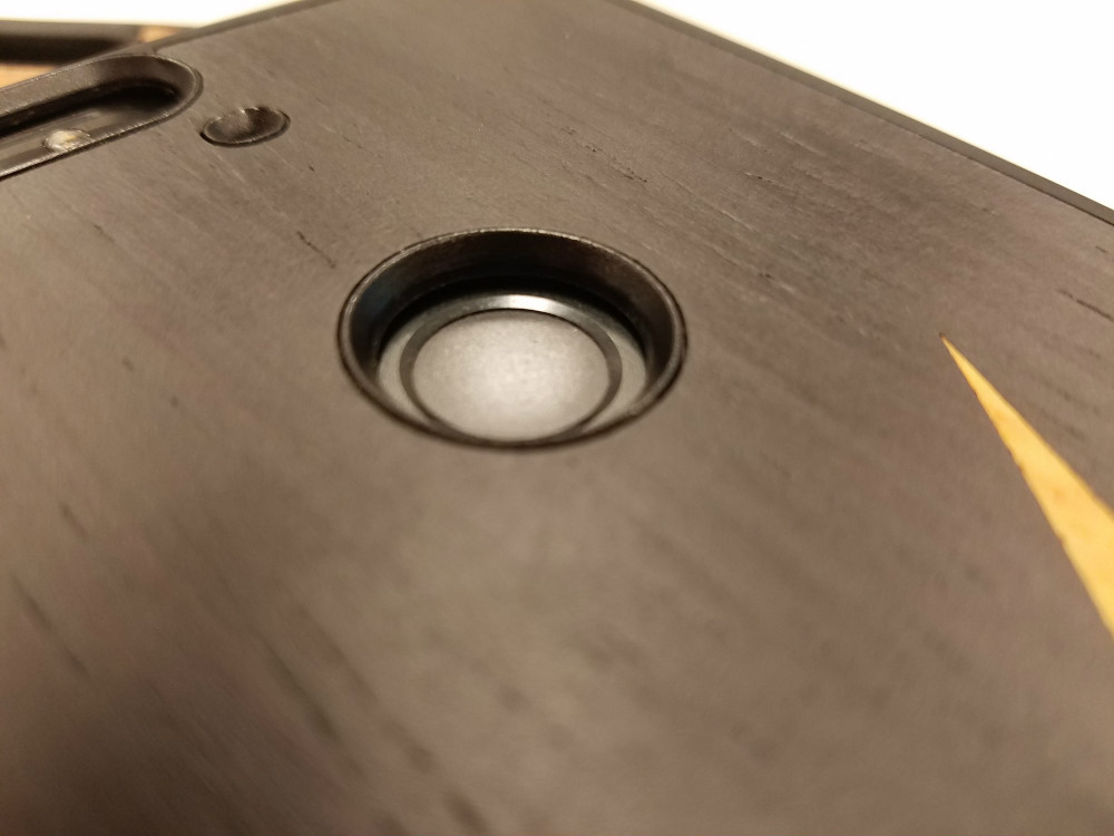 Cover-Up WoodBack fingerprint scanner