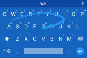 Google Keyboard Swipe Typing
