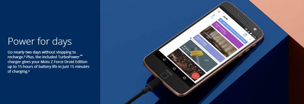 Moto Z Force Droid Battery Advertisement
