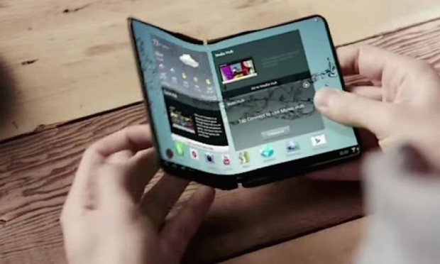 Alleged foldable display smartphone concept from Samsung.