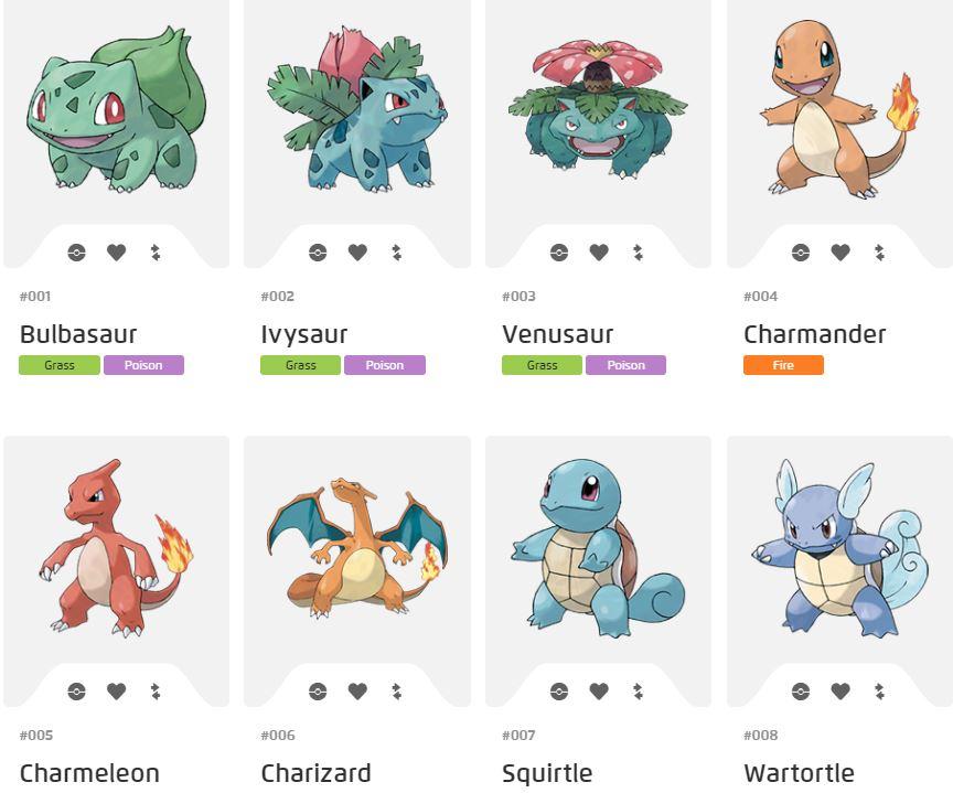 Different Pokemon.