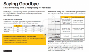 Leaked document detailing 2-year pricing removal