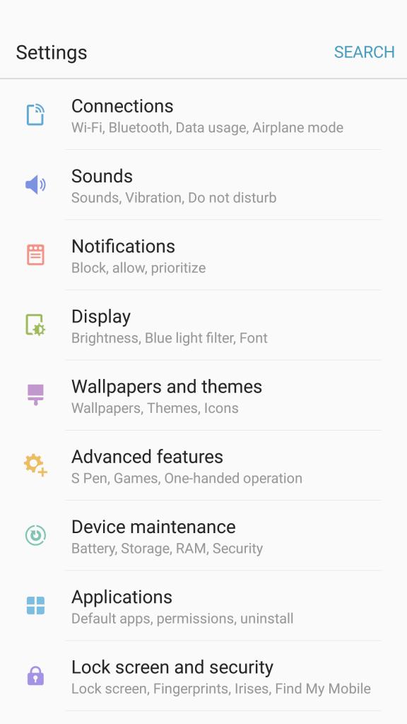 touchwiz settings