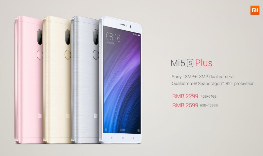 Xiaomi's Mi 5s Plus