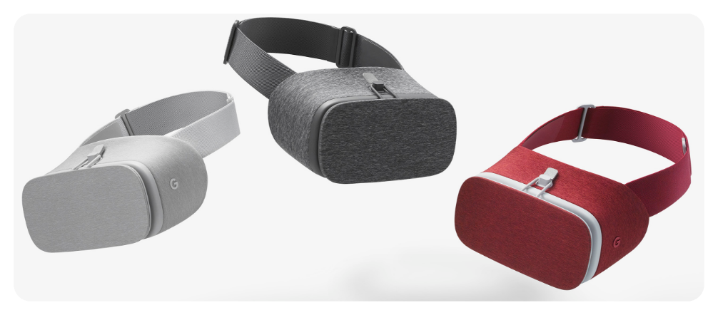 The Daydream VR headset will be available in three different colors