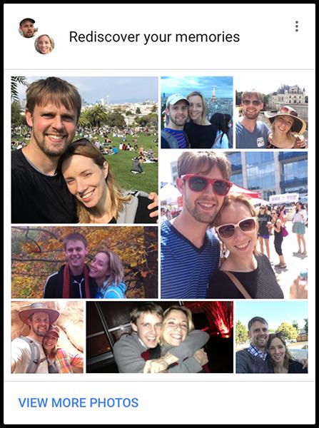 google photos memories