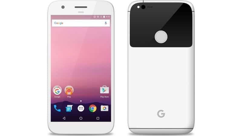 google-pixel-in-white