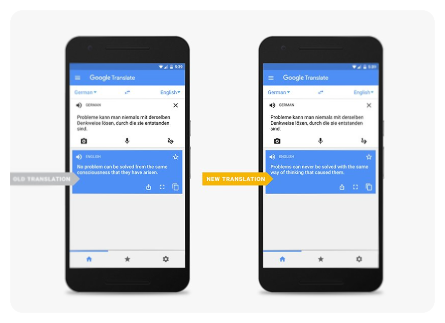 Google's translate service is much smarter than it has been in the past
