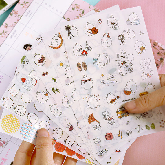 10-molang-sticker-set