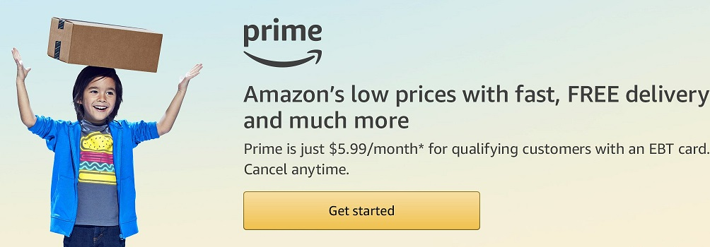 Amazon Prime now available with a discount for low-income