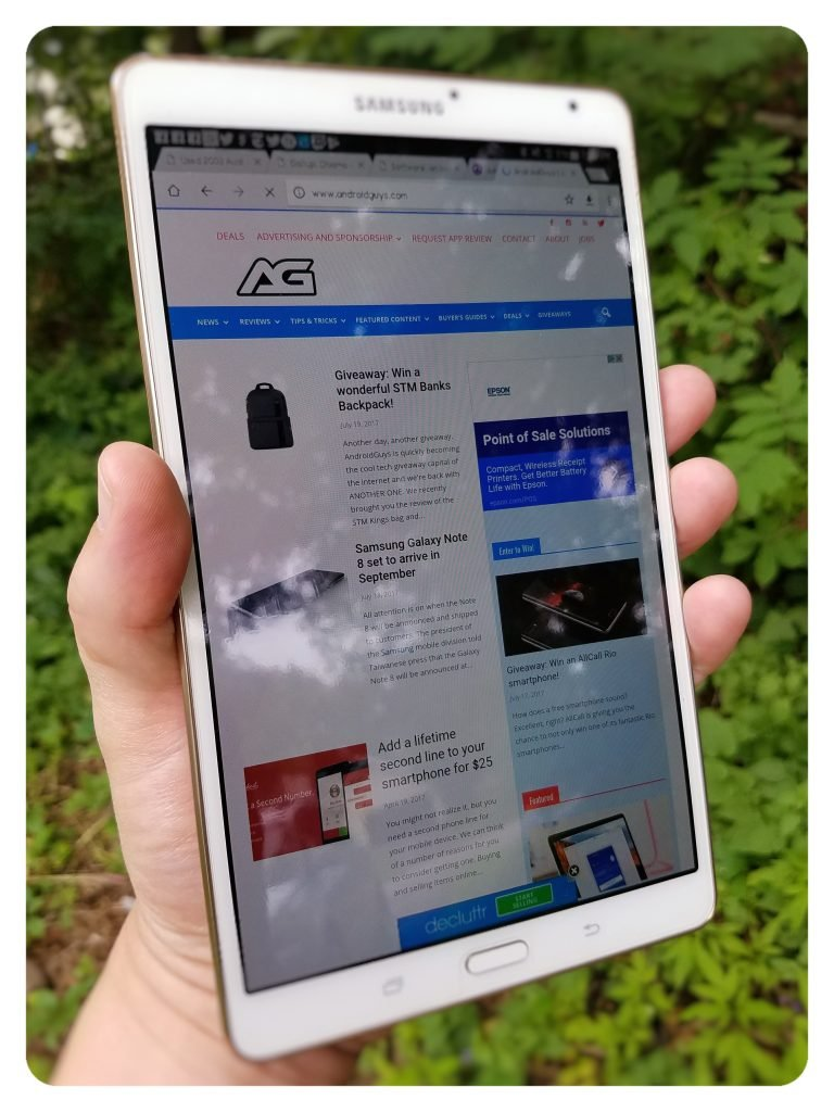 tab s one hand browse