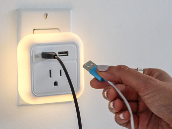 This travel usb wall charger with led nightlight is just 1699 mozeypictures Choice Image