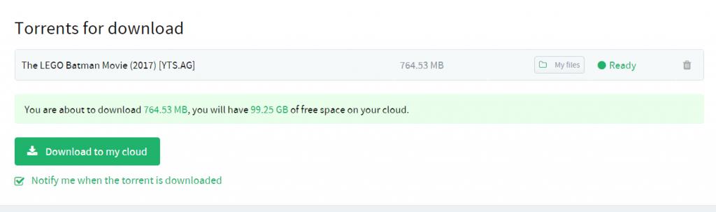 stream Torrent files