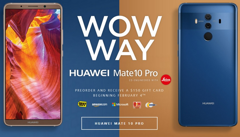 Huawei Mate 10 Pro is up for pre-sale in the US, comes with
