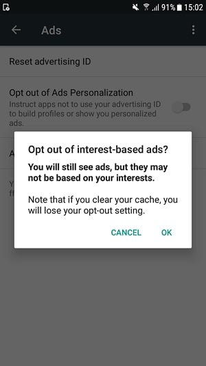 How to disable personalized ads on your Android device