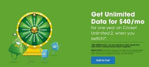 Cricket Wireless Tax Promo
