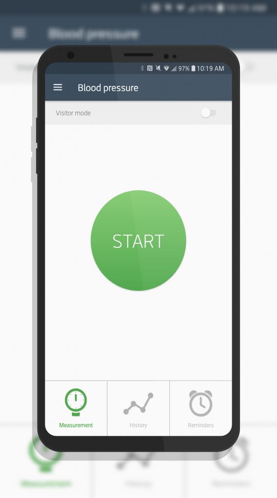 QardioArm Start Button