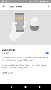 Guest Mode for Google Home