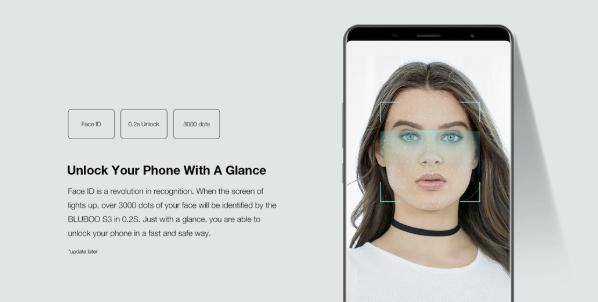 Bluboo S3 Face Unlock