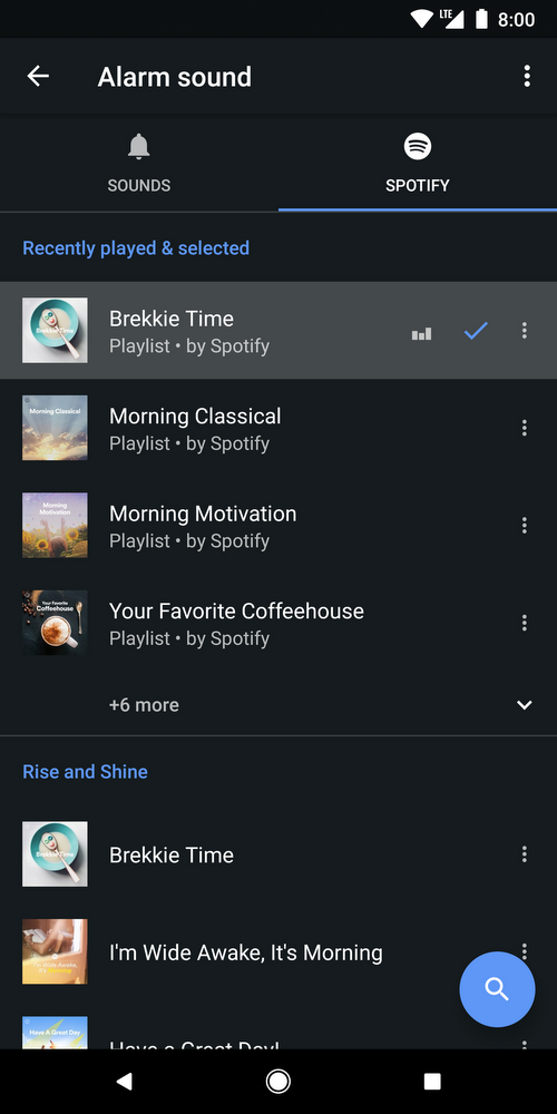 Google Clock Spotify