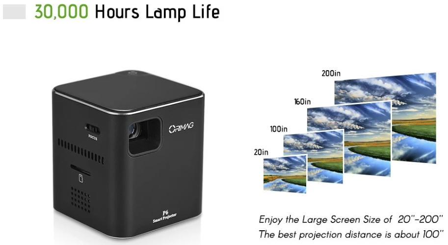 watch your favorite movies on the big screen with the orimag p6 smart projector promoted orimag p6 smart projector promoted