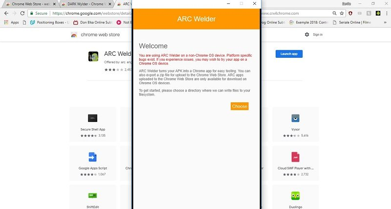 how to test apk file on mac